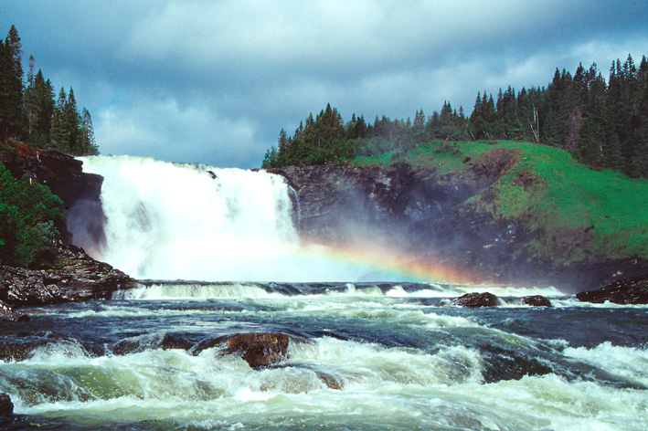 Tannforsen in Jämtland - Schwedens größter Wasserfall